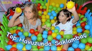 Top Havuzu - Saklambaç - Eğlenceli Çocuk Videosu - Hide and Seek Ocean Ball Pit Pool - Funny Kids