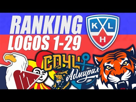 KHL Logos Ranked 1-29 (видео)
