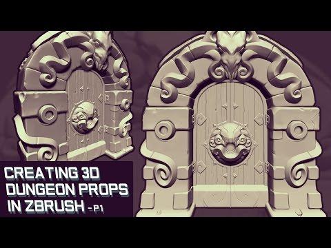 Creating 3D Game Props in Zbrush - Dungeon Door Part 1