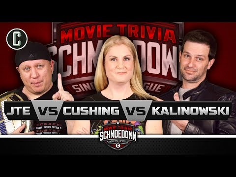JTE VS Rachel Cushing VS Mike Kalinowski: #1 Contender Triple Threat Match - Movie Trivia Schmoedown