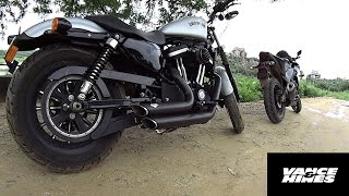 7. SUPER LOUD!!! Sportster Iron 883 Vance&Hines Short Shots Staggered Exhaust Note | Flyby