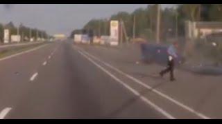 Полицейский чудом остался жив