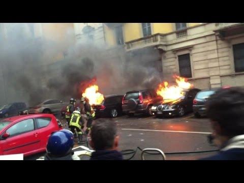 noexpo: auto bruciate e devastazione totale. siamo alla follia