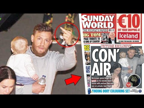 Conor McGregor Flips Off Media in Dublin; Khabib names possible opponents; Andre Fili's wild party