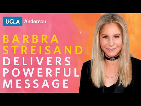 Barbra Streisand Delivers Powerful Message At Velocity 2019, UCLA Anderson's Women's Summit