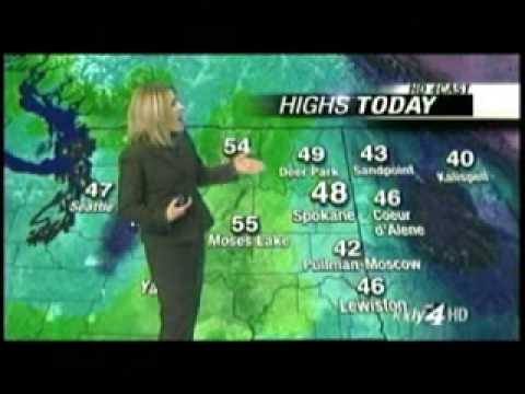 Weather Blooper With Keyboarding Cat