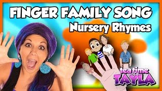 The Finger Family, Nursery Rhymes with Lyrics, Tea Time with Tayla
