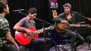 Boys Like Girls - Love Drunk Live 95.5 in The Bing Lounge