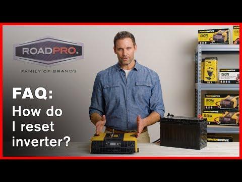 Power Inverter FAQ #9 - How do I reset my inverter?