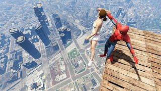 GTA 5 Funny Spiderman ragdolls vol. 10 (Euphoria physics Funny Moments)