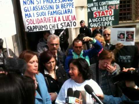 Lucia Uva protesta