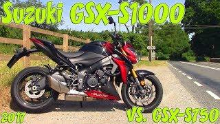8. 2017 Suzuki GSX-S1000 Review! Vs. GSX-S750