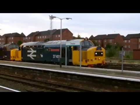 DRS 37401. 37405 & 57307 at Chester with The Bournemouth ...