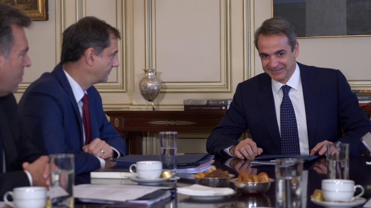 Συνάντηση του Πρωθυπουργού Κυριάκου Μητσοτάκη με την ηγεσία του Υπουργείου Τουρισμού