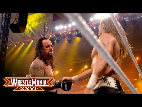 The Undertaker shows respect to Shawn Michaels after the Career vs. Streak Match: WrestleMania XXVI