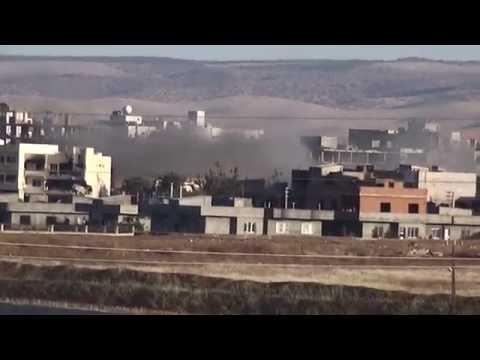 Türk askerleri Rojava'da hendek kazıyor