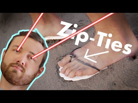 Download Making Sandals with Zip-Ties and a Laser HD Mp4 3GP Video and MP3