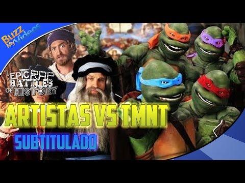 Artists vs TMNT. Epic Rap Battles of History Season 3 Finale Subtitulos Español