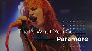 Paramore - That's What You Get (Subtitulado al Español)