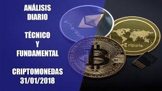 Análisis Técnico y Fundamental Bitcoin y Criptomonedas del 31/01/2018. Litecoin, Cardano, Ripple