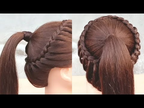 Braid hairstyles - Beautiful hairstyle for collage girls  Easy braided hairstyle compilation  hair style girl