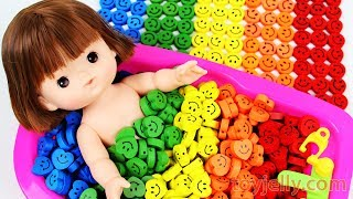 Learn Colors Smiley Candy Baby Doll Bath Time Baby Finger Family Song Nursery Rhymes for KIDFun and Creative Toddler Learning Video, Kids Video for Toddlers - toyjelly.comSounds : freesound.org/jokersounds.com/soundbible.comLicensed under Creative Commons: By Attribution 3.0http://creativecommons.org/licenses/by/3.0/