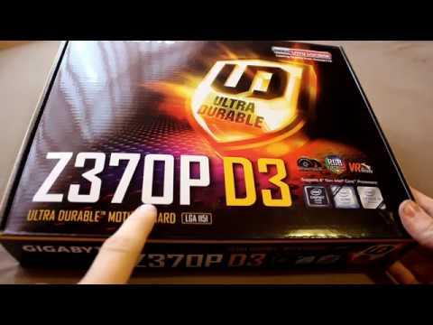 Gigabyte Z370P D3 unboxing