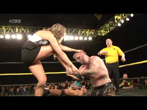 CZW: He Enjoyed It - Male Wrestler Destroys Female Wrestler's Toes (CZWstudios.com)
