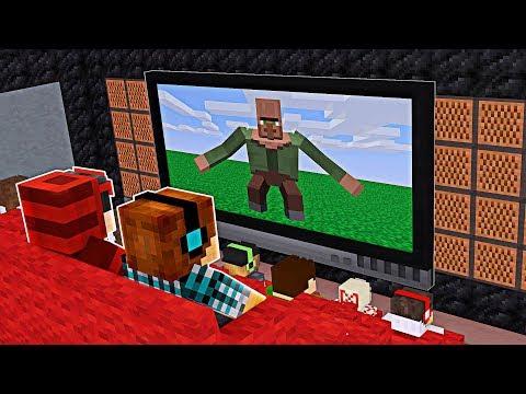 Minecraft Filme: VIDA DE VILLAGER NO CINEMA DO MINECRAFT !