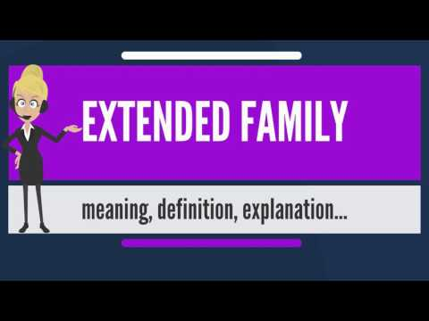 What Is EXTENDED FAMILY? What Does EXTENDED FAMILY Mean? EXTENDED FAMILY Meaning & Explanation