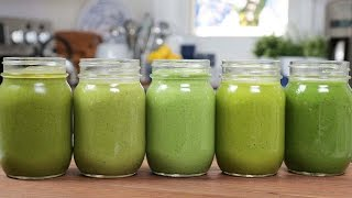 5 Green Smoothie Recipes by The Domestic Geek