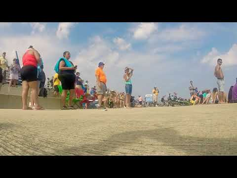 Blue Angels Sneak Pass Reaction Chicago 2017