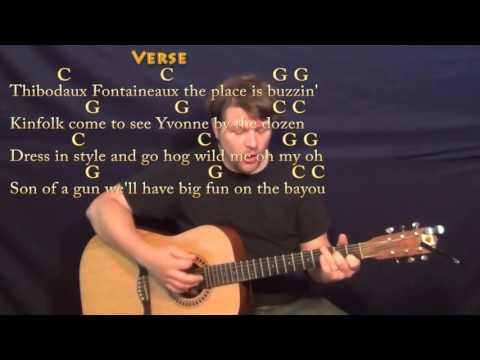 Jambalaya (Hank Williams) Guitar Cover Lesson with Chords/Lyrics - C G