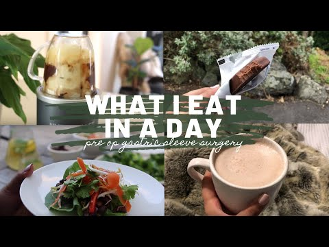 WHAT I EAT IN A DAY | PRE GASTRIC SLEEVE SURGERY DIET!