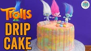 TROLLS RAINBOW DRIP CAKE RECIPE by  My Virgin Kitchen