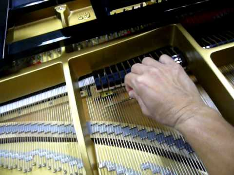 Grand Piano Mute Rail Demonstration