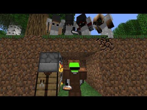 Minecraft Speedrunner VS 4 Hunters REMATCH