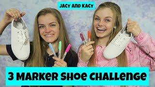 Video 3 Marker Shoe Challenge ~ DIY Fun Shoes ~ Jacy and Kacy MP3, 3GP, MP4, WEBM, AVI, FLV Mei 2018