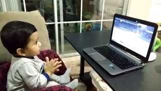 Mundra India  City new picture : 8 Month Old baby reacting to India's Batting - Bunny (Idhant Mundra)