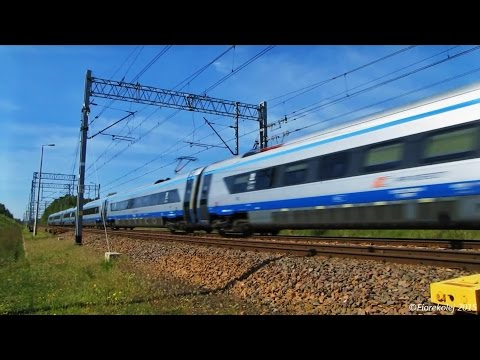 Polskie Pendolino w akcji / Polish Pendolino high-speed train in action