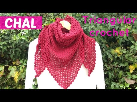 Chal triangular a crochet facil