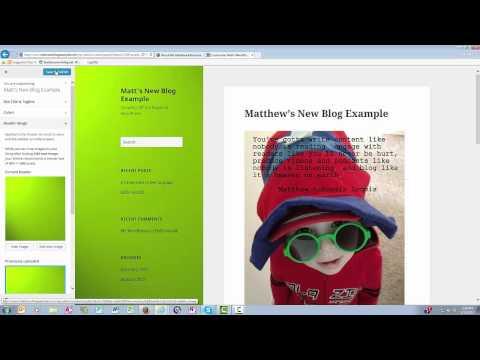 WordPress Header Video Tutorial for Beginners in 2015