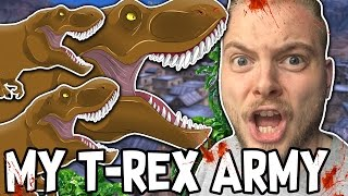 MY MIGHTY T-REX ARMY!! - Ultimate Epic Battle Simulator #4