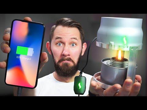FIRE-Powered Phone!  10 Ridiculous Tech Gadgets