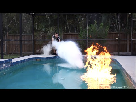 Pouring Liquid Nitrogen in a Pool