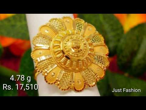 Designer gold rings with weight and price