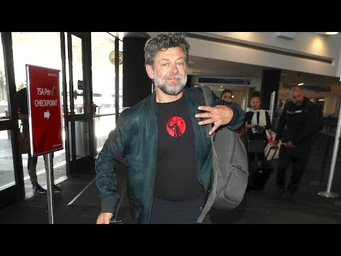Andy Serkis Makes Time For Fans Before Catching His Flight