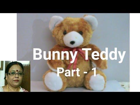 Handmade Bunny Teddy Making Part -1/Soft Toys Making / Debjani Creations Tutorial