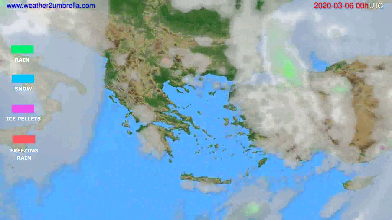 Precipitation forecast Greece // modelrun: 00h UTC 2020-03-05