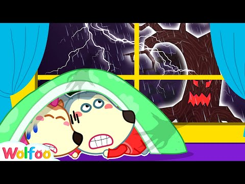 Storm Storm Go Away! Wolfoo and Lucy see Monster in the Dark | Wolfoo Channel Kids Cartoon